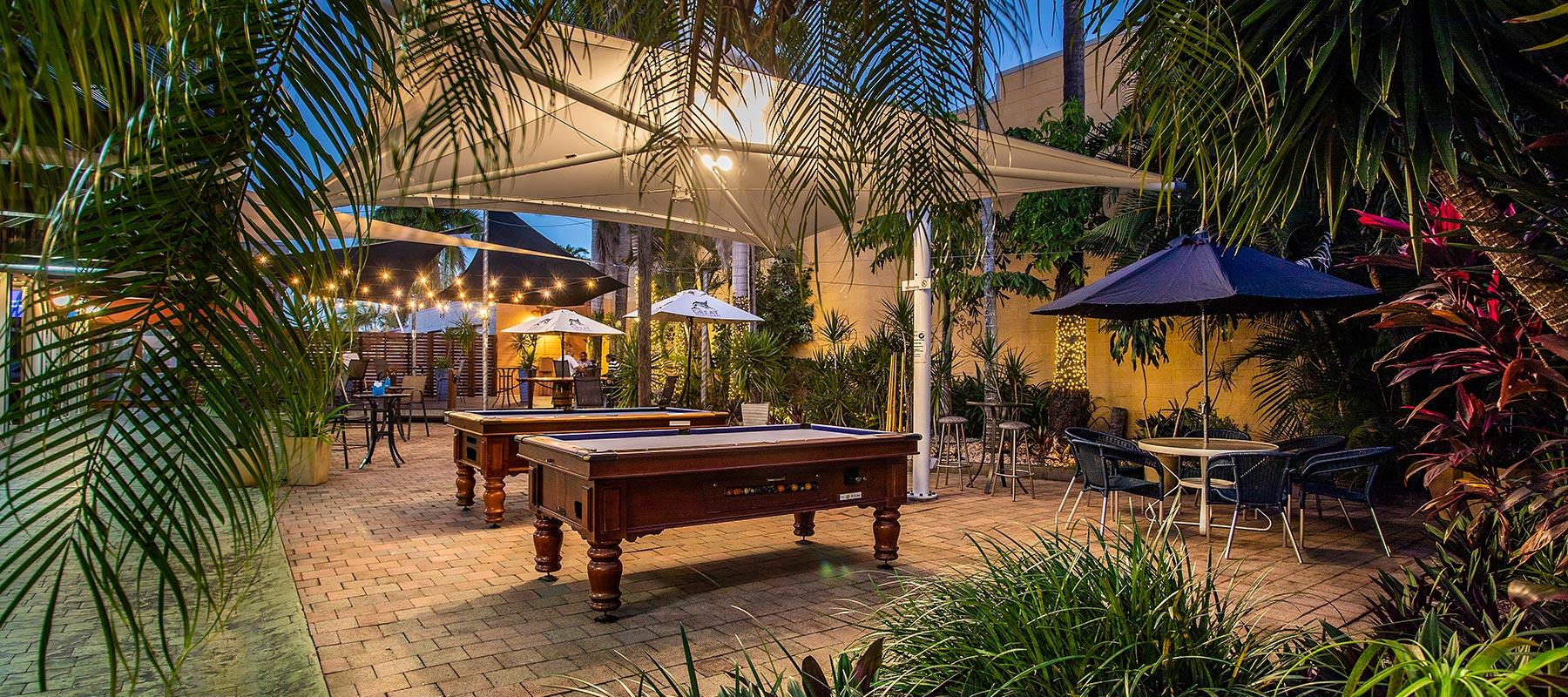 The Golden Gecko Hotel beer garden